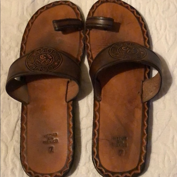 Shoes   Hand Tooled Leather Sandals